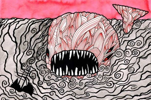 """From """"Moby Dick in Pictures: One Drawing for Every Page"""""""