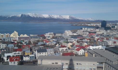 View of Reykjavik from Hallgrimskirkja Church