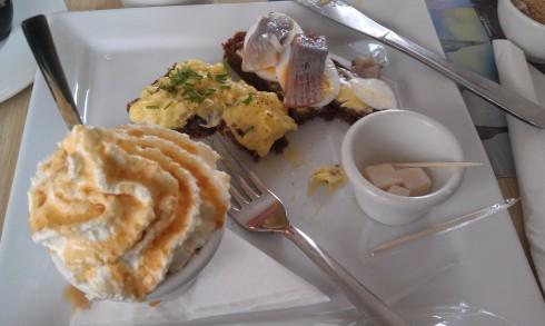 Cafe Loki: Rye Bread Ice Cream, Fish on Rye bread, and Hakarl (fermented shark.)