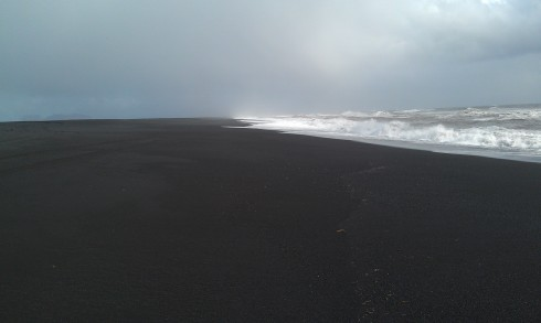The ashy beaches of Iceland.