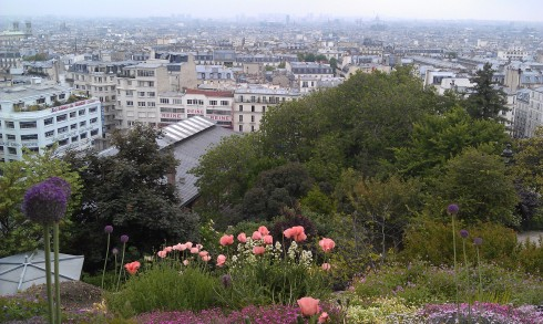 View of Paris from the Sacre Coure, Montmarte.