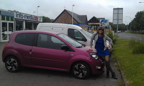 D and our Twingo which we dubbed Amelie.