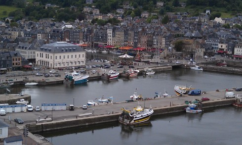 View of Honfleur from the Ferris Wheel.