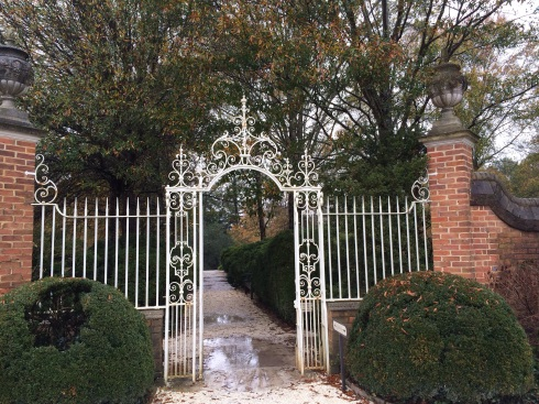 Gate towards a Revolutionary War Cemetary