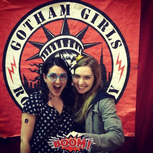 Melis and I at the free photobooth before the match.