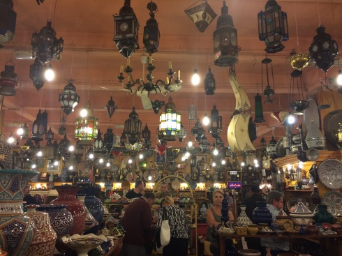 In one of the stores of the kasbah.
