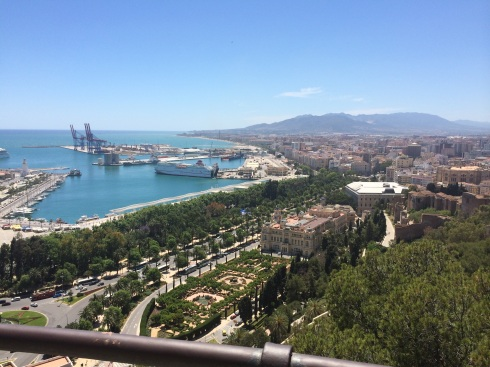 View of Málaga from the top of the Castillo de Gibralfaro.
