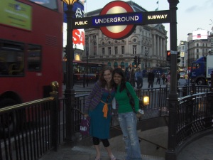 Khyati and I in London, 2007.